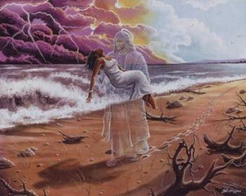Jesus carries us
