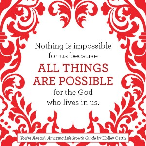 all things are possible in God
